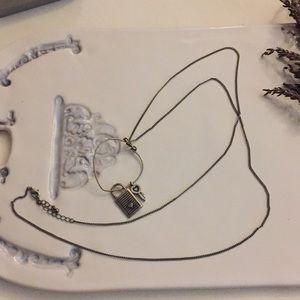 Jewelry - Circular Lock & Key Love Pendant Necklace
